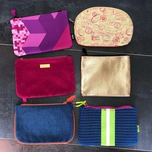 Bundle of 6 Ipsy Cosmetic Bags